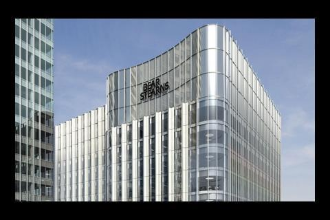 HOK International's design for investment bank Bear Stearns at Canary Wharf